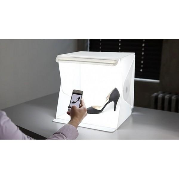 Ürün Çekim Çadır 23x23cm Profesional Mini Stüdyo Ledli