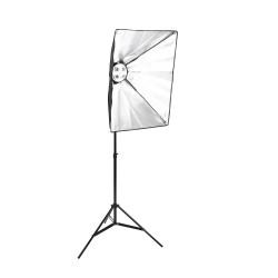 SoftBox 4 Duyulu 2.8 Ayak Fotoğraf Stüdyosu sürekli Aydınlatma Video Işığı E27 50 * 70 cm Kit