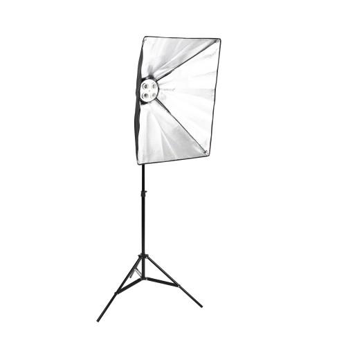 SoftBox 4 Duyulu 2. Ayak Fotoğraf Stüdyosu sürekli Aydınlatma Video Işığı E27 50 * 70 cm Kit