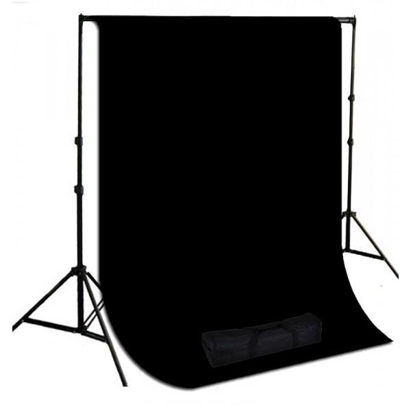 Background Stand Kit 3x3 m Siyah  Stüdyo Fon
