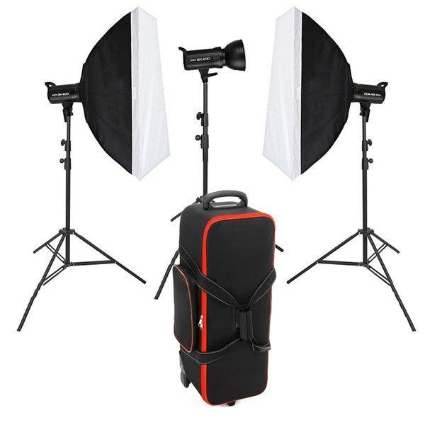 Godox Sk 600 Paraflaşh 3 lü Set Stüdyo Ürün Çekimleri
