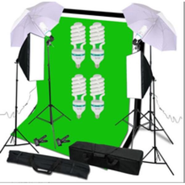 Deyatech Softbox 50x70 Umberlla Şemşiye 84cm Sürekli Işık Background Stand Stüdyo Kit