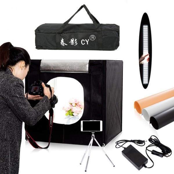 Ürün Çekim Çadırı 40X40 Profesiional Mini Stüdyo Ledli