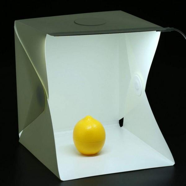Ürün Çekim Çadırı 23x23 Ledli Mini Stüdyo Portatif Ürün Çekim Çadırı 23x23cm Ledli