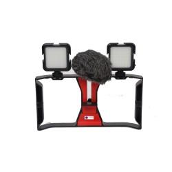 Deyatech Telefon Mobil Video İçin 2 Ledli 1 Mikrofonlu Rig Kafes