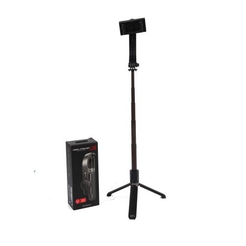 Deyatech L08 Gimbal 2 Eksenli Telefon ve Kamera Sabitleyici Bluetooth Selfie Vlog Tripod