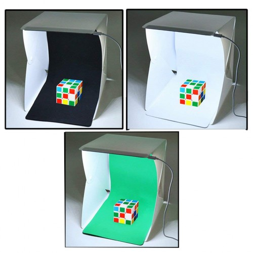 Ürün Çekim Çadır 30x30cm Profesional Mini Stüdyo Ledli Portatif Ledli 30x30cm Ürün Çekim Çadırı