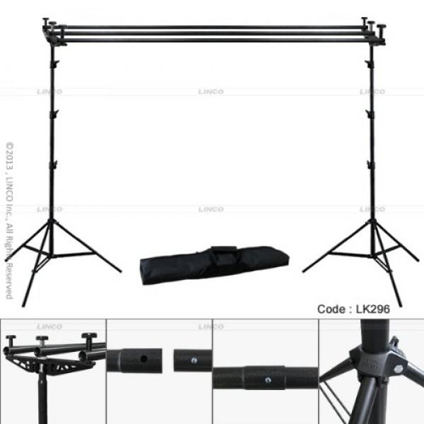 Backdrop Backgourd 3Lü Cross Bar Stand Fon Standı Destek Sistemi