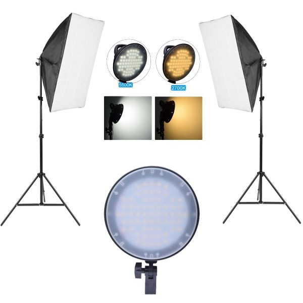 Deyatech 5500K Ledli Işık Softbox 50x70 Kit sürekli İşık Video İşık