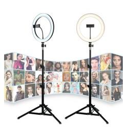 Deyatech AFİ 12 inch Kuaför Makyaj TikTok Ve YouTube Çekim Işık Video Işık Tripodlu Işık