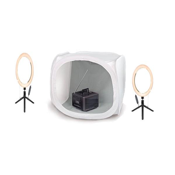 Deyatech Ürün Çekim Çadır Ledli Ring Light Set