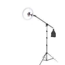 Deyatech Ring Light Led 19 İnch Boom Arm Mikrofon Tutucu Video TikTok Çekim Işıgı