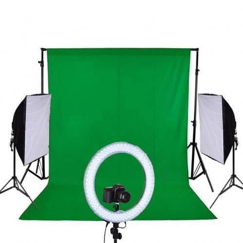 Deyatech Youtube Kit Softbox - Green Screen