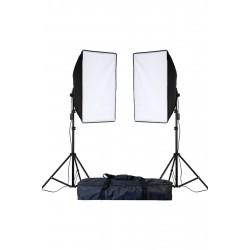 Deyatech SoftBox Tek  Duyulu 2m Ayak Fotoğraf Stüdyosu sürekli Aydınlatma Video Işığı E27 50 * 70 cm İkili Kit