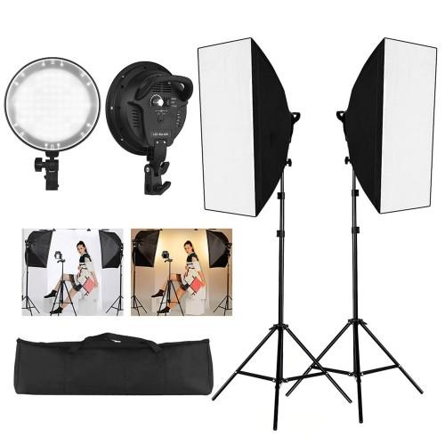 Deyatech 5500K Ledli Işık Softbox 50x70 Kit sürekli İşık Video İşık