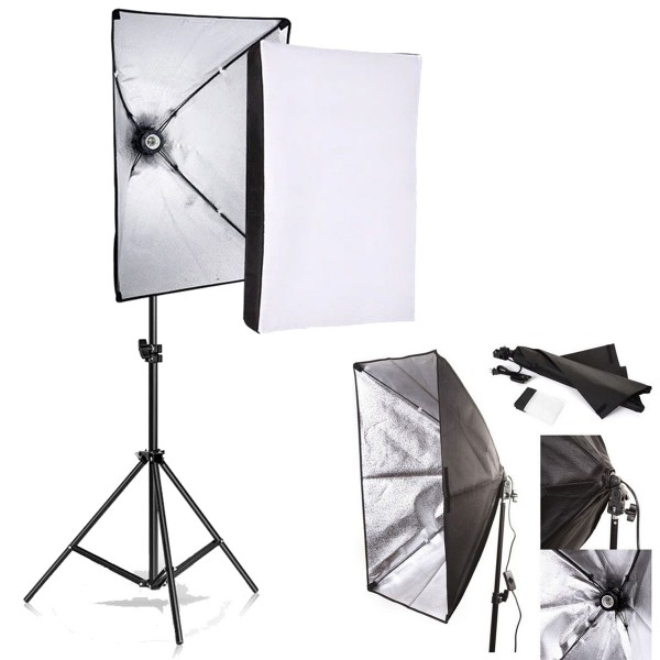 Deyatech YouTube Video ve Fotoğraf  Softbox Seti Sürekli Işık 50x70cm